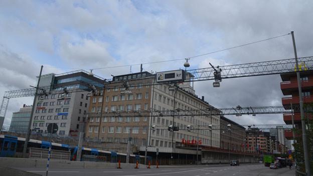 Road-Pricing macht Stockholm flüssig - auch auf der Strasse. Doch nicht in allen Städten Schwedens ist die Freude gleich gross. Auf dem Bild ist eine Maut-Station zu sehen.