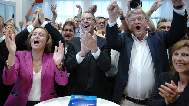 AfD-Wahlparty in Dresden.