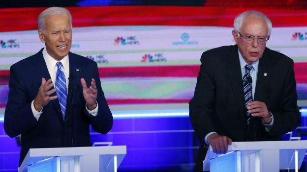 Zwei der Favoriten: Der frühere Vizepräsident Joe Biden und Senator Bernie Sanders