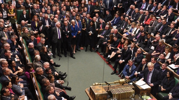Das Parlament in London während der Abstimmung gestern.