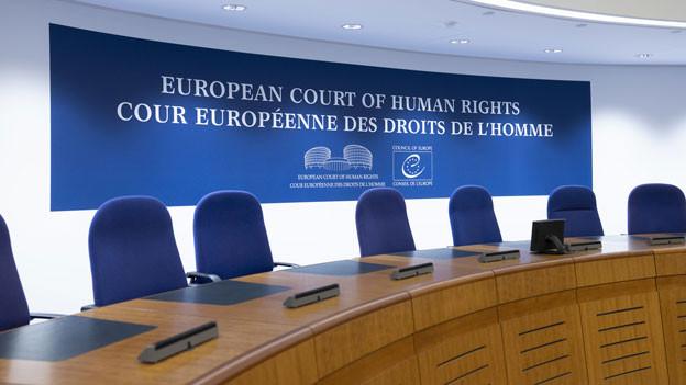 Der Saal im Europäischen Gerichtshof für Menschenrechte.