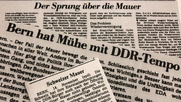 Die Antwort der Schweizer Regierung auf den Mauerfall sollte schon bald für Spott und bissige Kommentare sorgen.