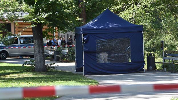 In diesem Berliner Park wurde ein Georgier im August 2019 erschossen.