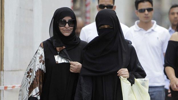 Verschleierte Frauen in Genf.