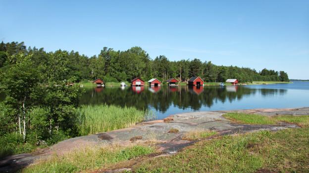 Ein Ufer der Inselgruppe Åland.