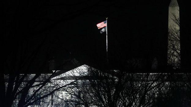 Nacht über dem Weissen Haus in Washington.