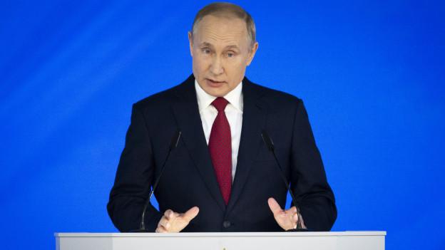 Vladimir Putin bei seiner Ansprache am 15.1.2020.
