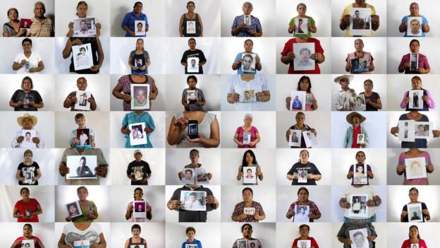 Tausende Menschen sind in den letzten Jahren in Mexiko spurlos verschwunden. Das Bild zeigt Angehörige von im Jahr 2015 verschwundenem Menschen.
