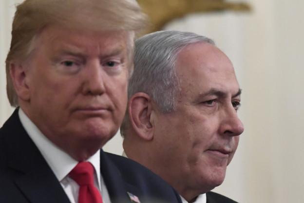 Donald Trump und Benjamin Netanyahu stellen den Nahost-Plan vor
