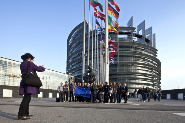 Das Europaparlament in Strassburg