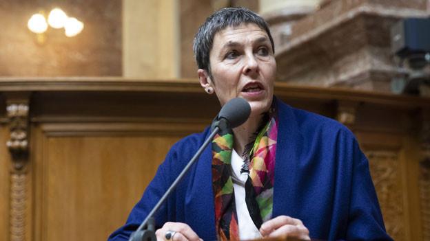 SP-Vizepräsidentin Barbara Gysi ärgert sich: Am Schluss resultiere ein Überschuss. Sie fordert Anpassungen bei der Schuldenbremse.