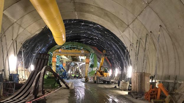 Hier entsteht der längste Eisenbahntunnel der Welt. Das Südportal am Brenner.