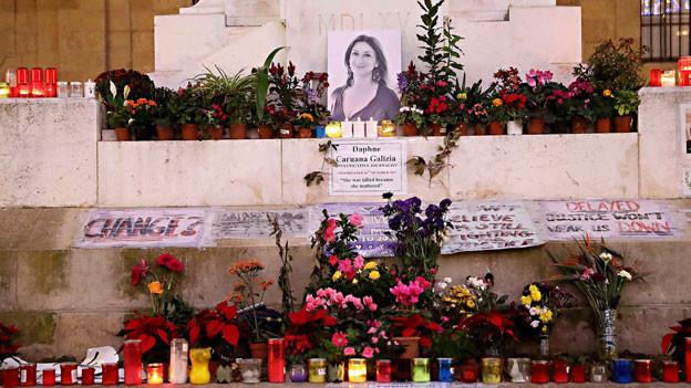 Aufruf zur Wende am «Mahnmal» in Valletta.