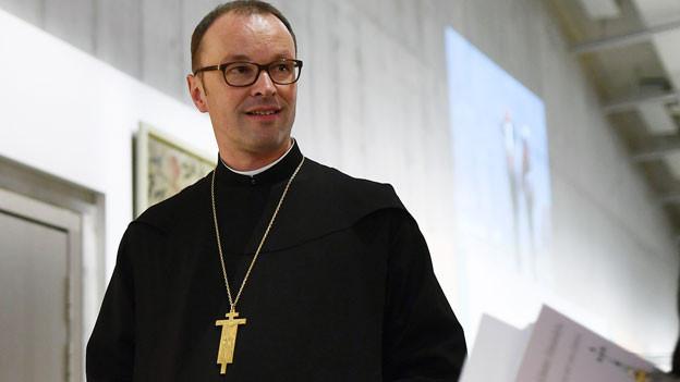 Urban Federer, Abt des Klosters Einsiedeln, in der Ausstellung «Kloster Einsiedeln. Pilgern seit 100 Jahren» im Landesmuseum Zürich am 13. September 2017.