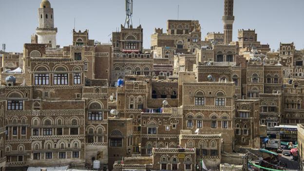 Blick auf die Altstadt von Sanaa, ein Weltkulturerbe.