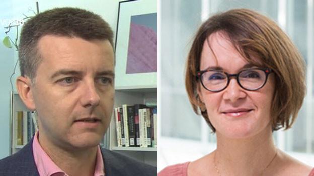 Fabrizio Gilardi, Verantwortlicher für die Selects-Medienstudie (links) und Anke Tresch, Leiterin des Wahl-Forschungsprojekts Selects.