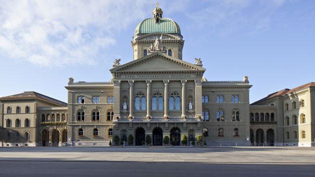 Das Bundeshaus und der Bundesplatz in Bern.