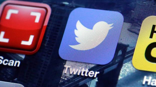 Die Twitter-App auf einem Smartphone.