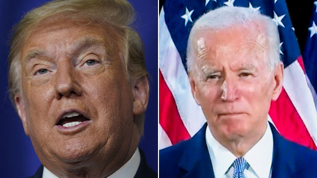 US-Präsident Donald Trump (links) und Joe Biden.