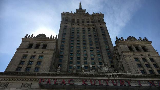 Ein Symbol der vergangenen Sowjetzeit. Der Kulturpalast in Warschau.