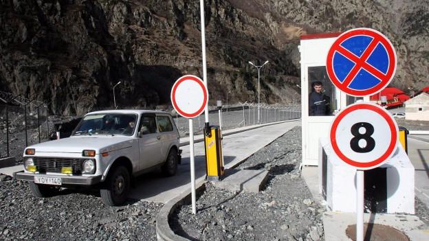 Der einzige Grenzübergang im Kaukaus zwischen Georgien und Russland