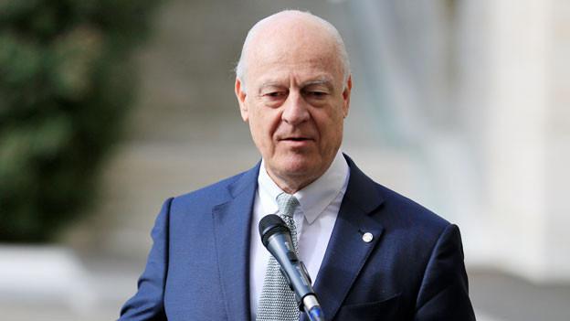Staffan de Mistura, UNO-Gesandter für Syrien an der 4. Friedenskonferenz für Syrien in Genf.