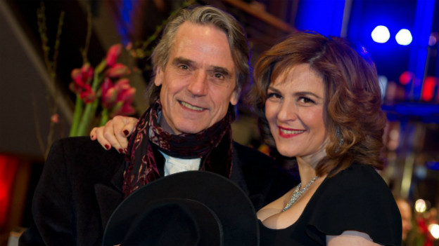 Premiere in Berlin: Jeremy Irons und Martina Gedeck.