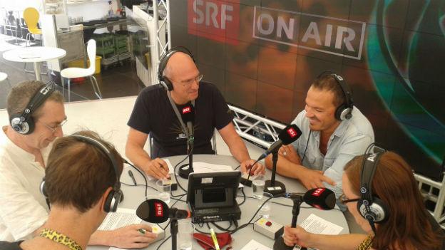 Der Regisseur Jean-Stéphane Bron zu Gast bei SRF 4 News.