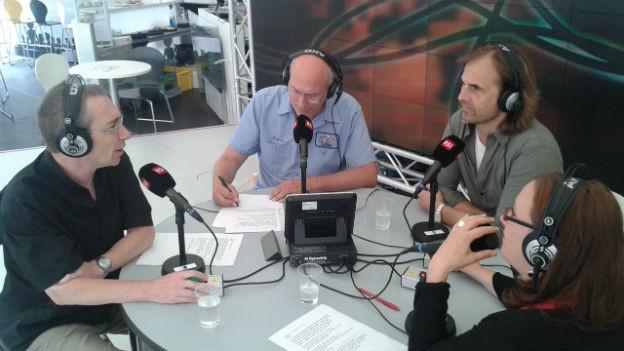 Thomas Imbach zu Gast beim Team von SRF4News.