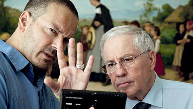Der Filmemacher Jean-Stéphane Bron mit Christoph Blocher.