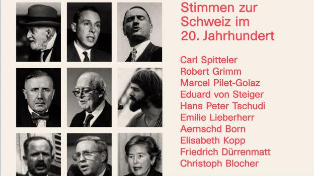Buchcover mit Fotos von Rednern