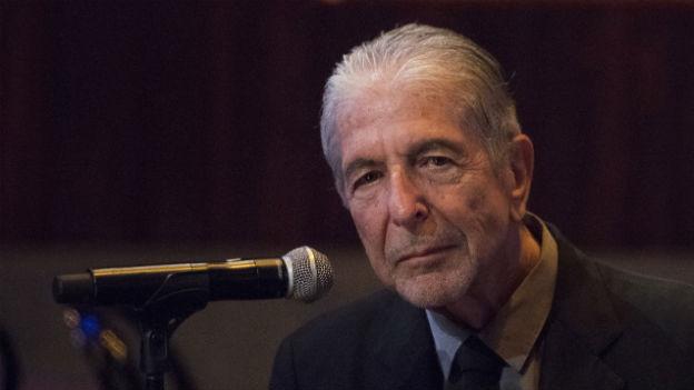 Leonard Cohen vor wenigen Tagen