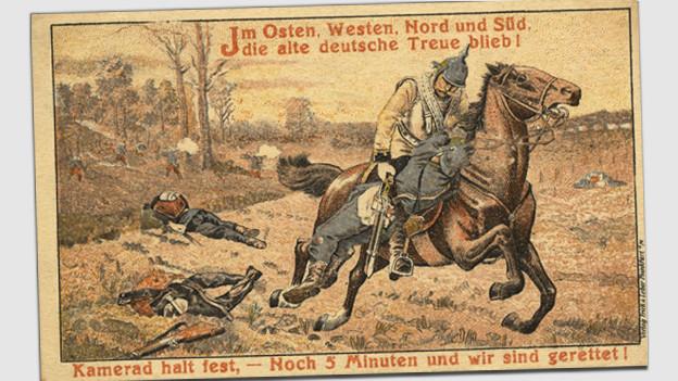 Postkarte aus dem Ersten Weltkrieg