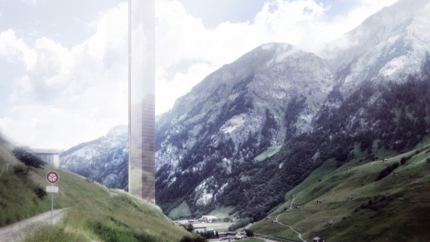 Der geplante Hotelturm in Vals