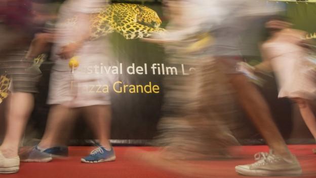 Zu sehen das Logo des Filmfestivals Locarno.