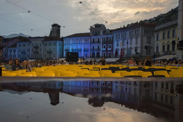 Aufnahme der Piazza Grande während dem Filmfestival.