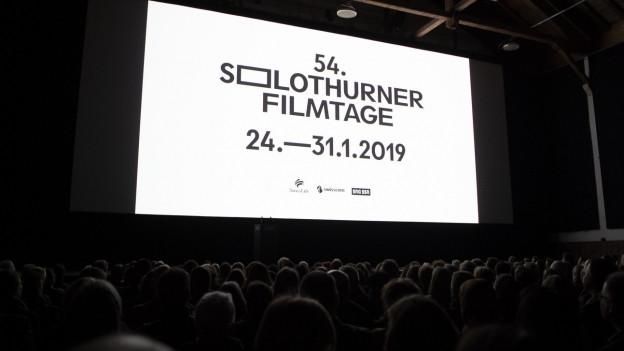 Eine Kinoleinwand der 54. Solothurner Filmtage