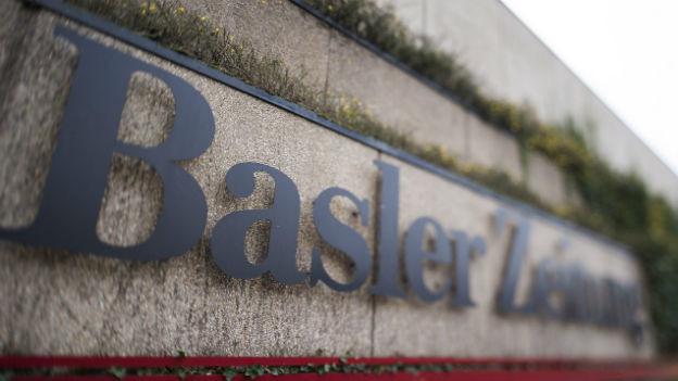 Angestellte der BAZ-Druckerei im Streik