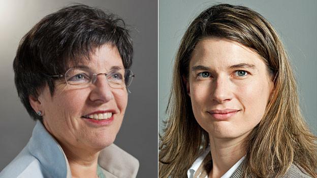 Lucrezia Meier Schatz kämpft für den Familienartikel, Nadja Pieren dagegen.