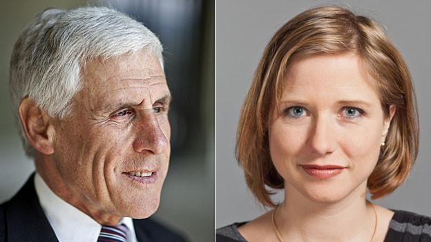 Christa Markwalder und Rudolf Strahm.