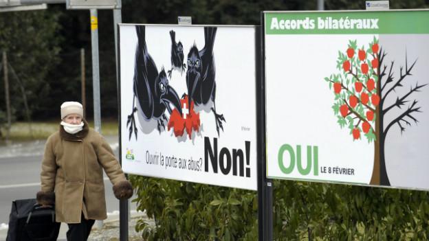 Abstimmung zur Personenfreizügigkeit vom Februar 2009.