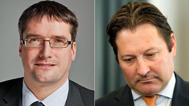 SP-Präsident Christian Levrat und Economiesuisse-Direktor Pascal Gentinetta