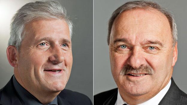 Zwei Gesundheitspolitiker: Die Ständeräte Hans Stöckli, SP Bern und Alex Kuprecht, SVP Schwyz.