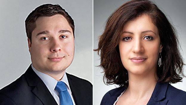 Die Luzerner SP-Kantonsrätin Ylfete Fanaj und der Luzerner JSVP-Präsident Alexander Kares.