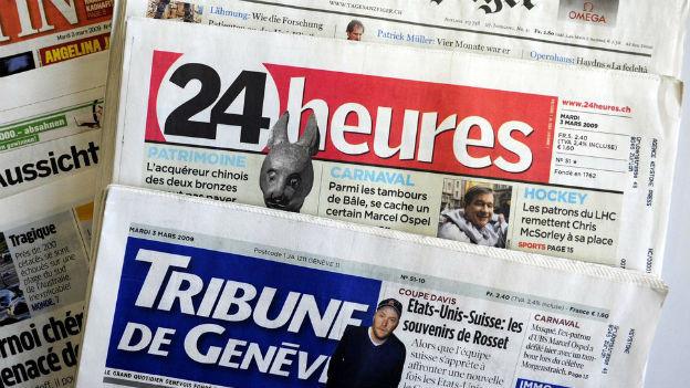 Zeitungen in der Westschweiz