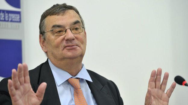 Luzius Wasescha an einer Pressekonferenz am 7. Juni 2012 in Genf.