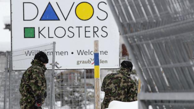 Die Schweizer Armee im Einsatz am WEF 2012 in Davos.