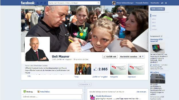 Der Auftritt von Ueli Maurer auf Facebook