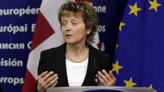Neue Verhandlungen mit der EU stehen an für Finanzministerin Eveline Widmer Schlumpf.
