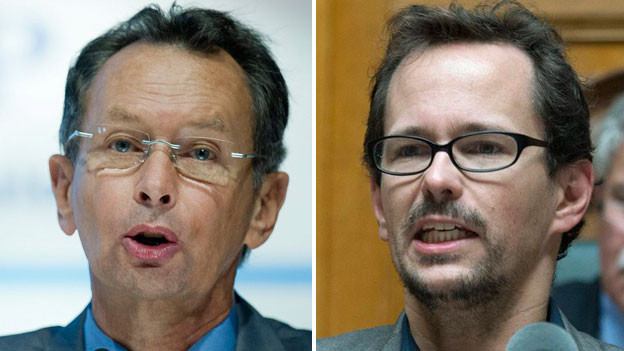 Philipp Müller, FDP,  (links)  vs. Balthasar Glättli, GP
